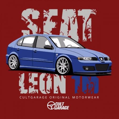 Dámské tričko s potiskem Seat Leon 1M Modrý 2