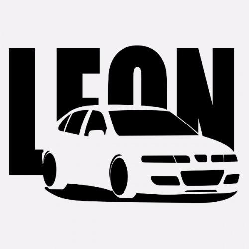 Dámské tričko s potiskem Seat Leon Cupra R černá
