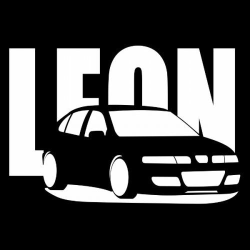 Pánské tričko s potiskem Seat Leon Cupra R bílá