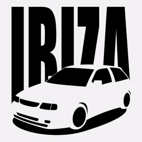 Dámské tričko s potiskem Seat Ibiza 6K2 černá
