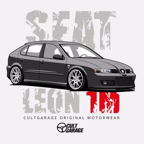 Dámské tričko s potiskem Seat Leon 1M Černý 1