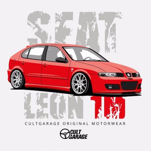 Dámské tričko s potiskem Seat Leon 1M Červený 1