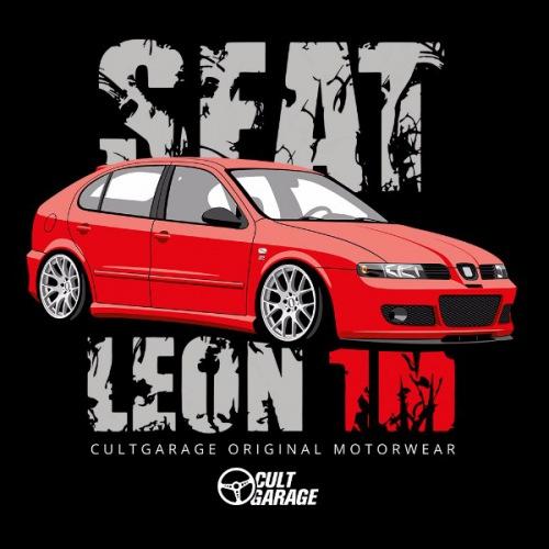 Dámské tričko s potiskem Seat Leon 1M Červený 2