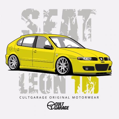 Dámské tričko s potiskem Seat Leon 1M Žlutý 1