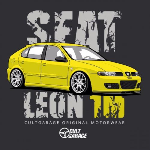 Dámské tričko s potiskem Seat Leon 1M Žlutý 2