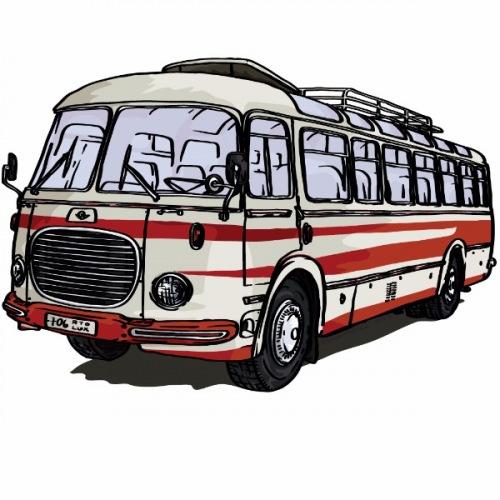 Dámské tričko s potiskem Škoda RTO 706 LUX červený