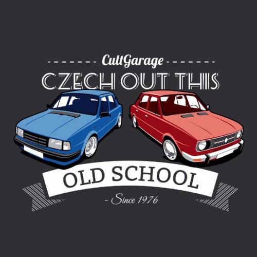 Dámské tričko s potiskem Škoda 105 a 120 Oldschool 2