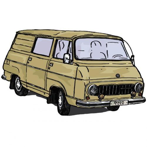 Dámské tričko s potiskem Škoda 1203 žlutá