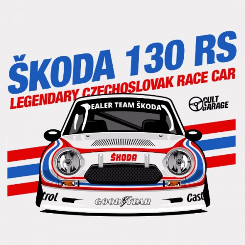 Pánské tričko s potiskem Škoda 130 RS Cartoon