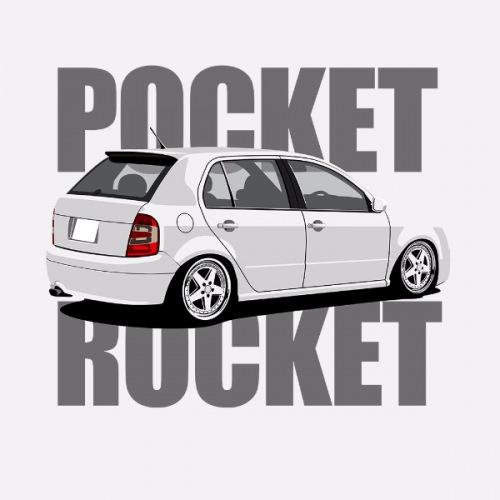 Dámské tričko s potiskem Škoda Fabia 1 bílá RP
