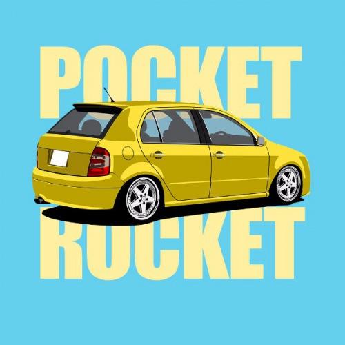 Dámské tričko s potiskem Škoda Fabia 1 žlutá RP