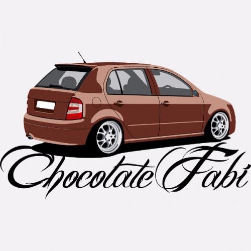Dámské tričko s potiskem Škoda Fabia 1: Chocolate Fabi