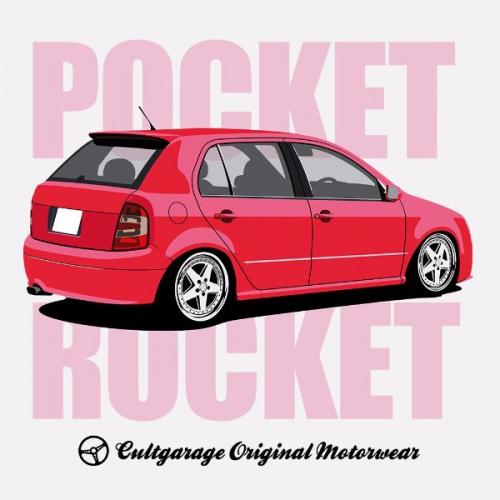 Dámské tričko s potiskem Škoda Fabia 1 Červená RP