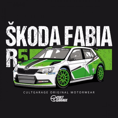 Dámské tričko s potiskem Škoda  Fabia R5 2