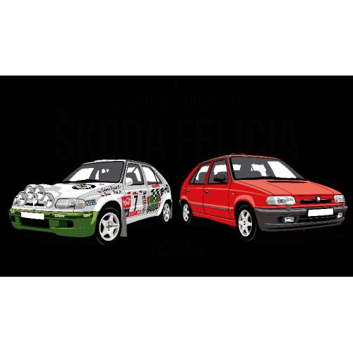 Dámské tričko s potiskem Škoda Felicia Kit Car červená 1