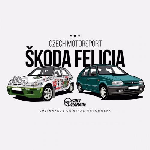 Dámské tričko s potiskem Škoda Felicia Kit Car zelená 1