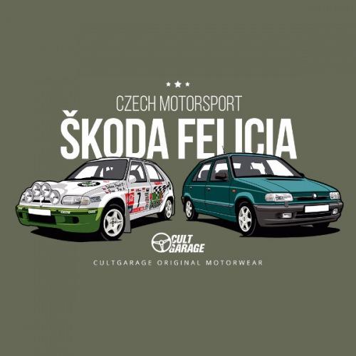 Dámské tričko s potiskem Škoda Felicia Kit Car zelená 2