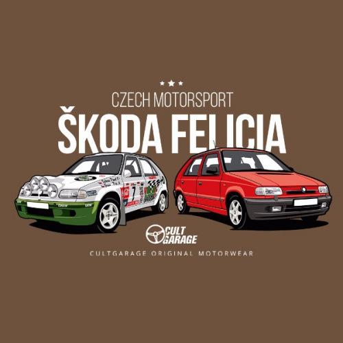 Dámské tričko s potiskem Škoda Felicia Kit Car červená 2