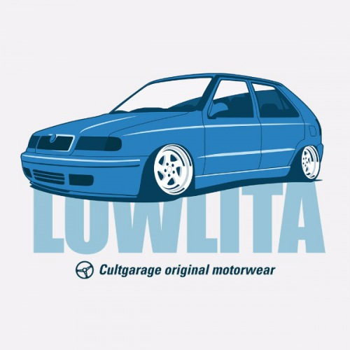 Dámské tričko s potiskem Škoda Felicia Lowlita modrá