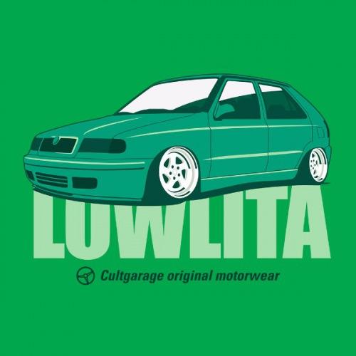 Dámské tričko s potiskem Škoda Felicia Lowlita zelená