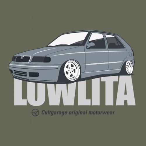 Dámské tričko s potiskem Škoda Felicia Lowlita šedá