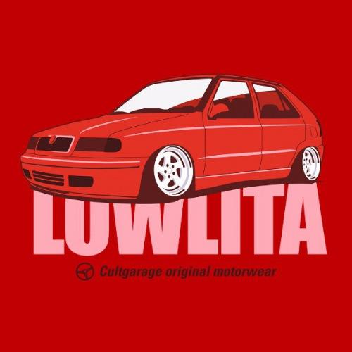 Dámské tričko s potiskem Škoda Felicia Lowlita červená