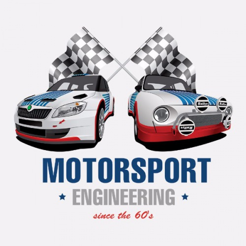 Dámské tričko s potiskem Škoda Motosport Engineering