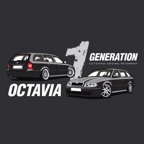 Dámské tričko s potiskem Škoda Octavia 1 Combi černá 2