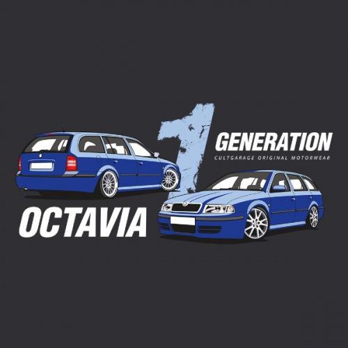Dámské tričko s potiskem Škoda Octavia 1 Combi modrá 2