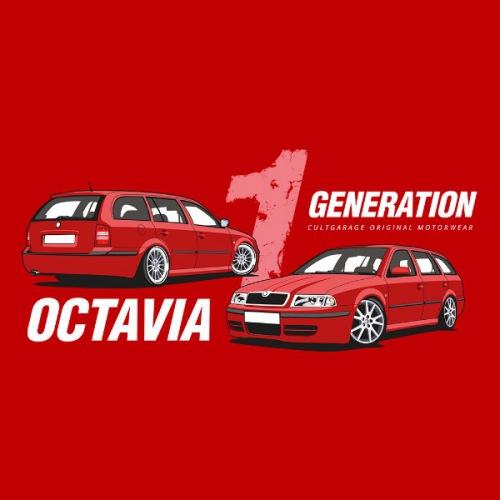 Dámské tričko s potiskem Škoda Octavia 1 Combi červená 2