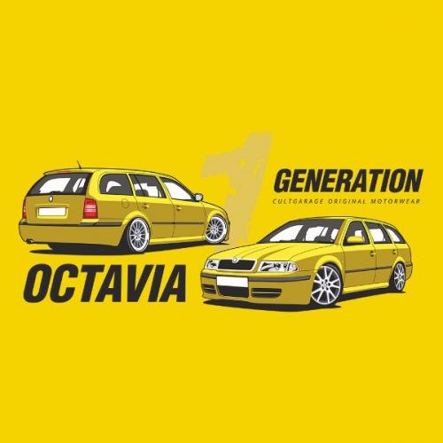 Dámské tričko s potiskem Škoda Octavia 1 Combi žlutá 1