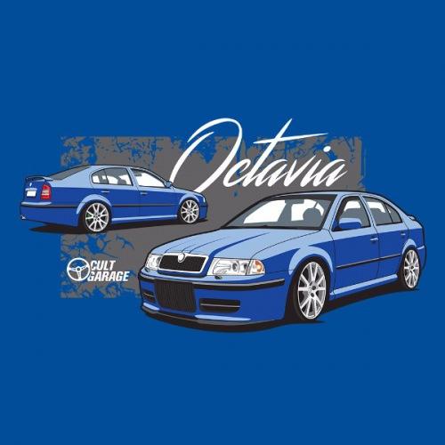 Dámské tričko s potiskem Škoda Octavia 1 Sedan modrá 2