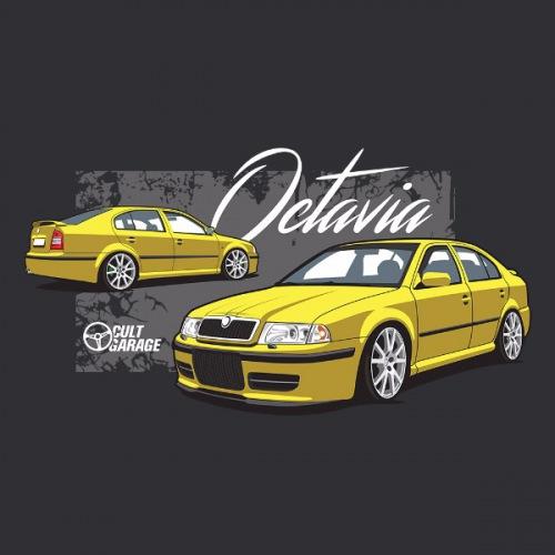 Dámské tričko s potiskem Škoda Octavia 1 Sedan žlutá 2