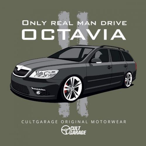 Dámské tričko s potiskem Škoda Octavia 2 Combi černá 2