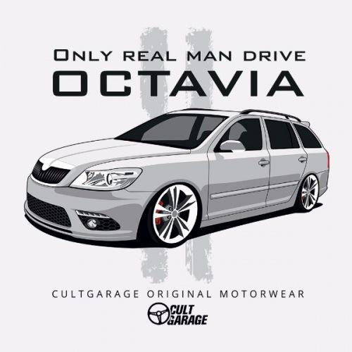 Dámské tričko s potiskem Škoda Octavia 2 Combi bílá 1