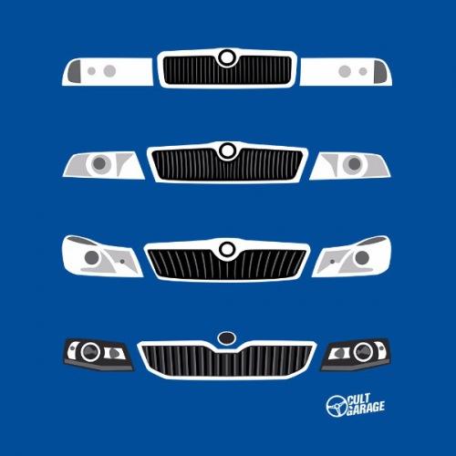 Dámské tričko s potiskem Škoda Octavia Front Grill 2