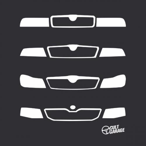 Dámské tričko s potiskem Škoda Octavia Front Grill 3
