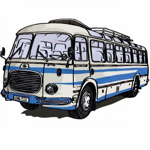 Dámské tričko s potiskem Škoda RTO 706 LUX modrý