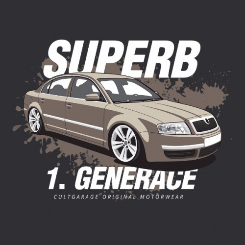 Pánské tričko s potiskem Škoda Supeb 1 Moca 2