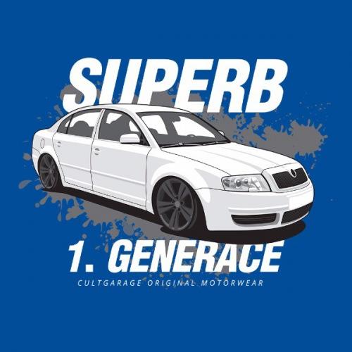 Dámské tričko s potiskem Škoda Superb 1 bílá 2