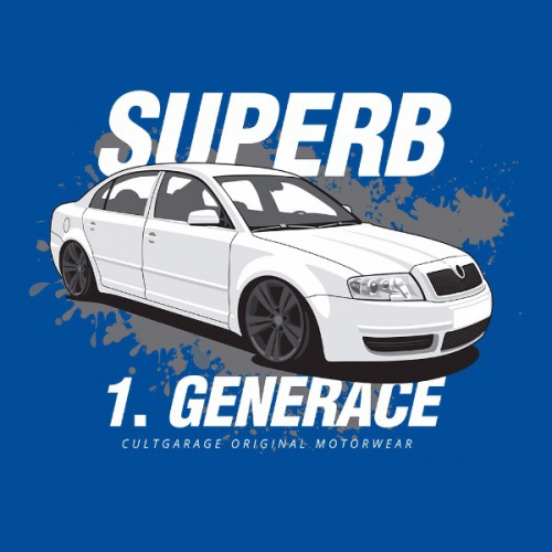 Pánské tričko s potiskem Škoda Superb 1 bílá 2