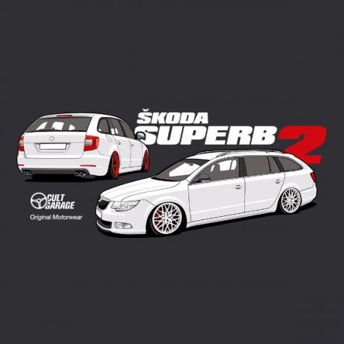 Dámské tričko s potiskem Škoda Superb 2 Combi 2