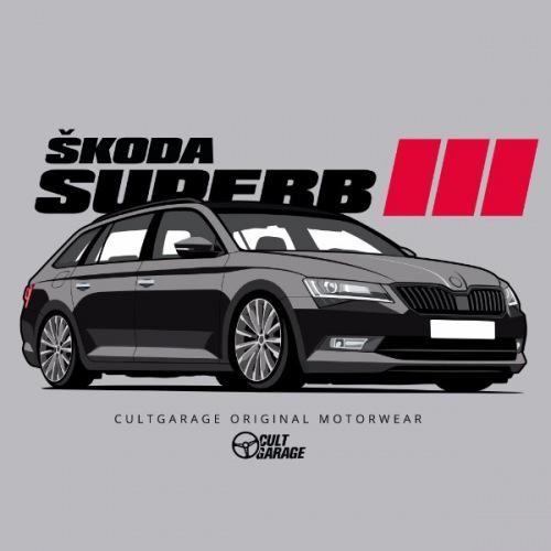 Dámské tričko s potiskem Škoda Superb 3 Black 1 Front