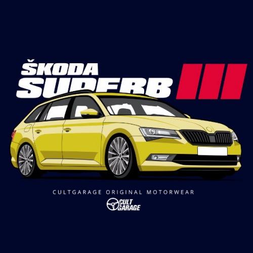 Dámské tričko s potiskem Škoda Superb 3 Yellow 2 Front