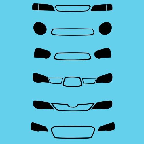 Dámské tričko s potiskem Subaru Front Grill černá