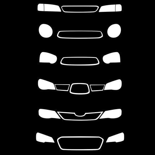 Dámské tričko s potiskem Subaru Front Grill bílá