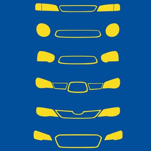 Pánské tričko s potiskem Subaru Front Grill žlutá