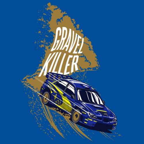 Pánské tričko s potiskem Subaru Impreza: Gravel Killer