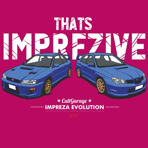 Dámské tričko s potiskem Subaru Impreza: Imprezive 2