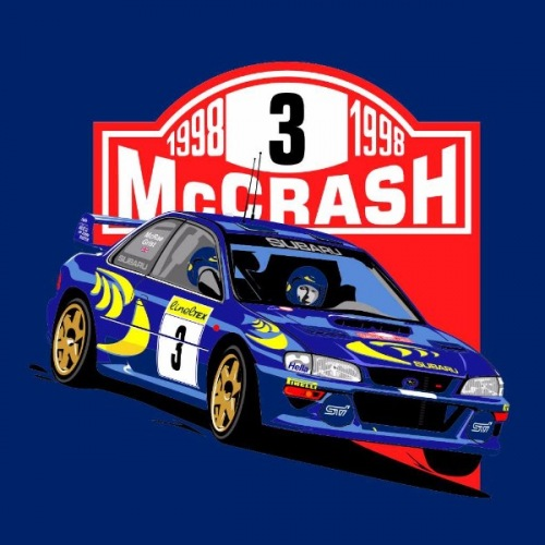 Dámské tričko s potiskem Subaru Impreza WRC 1998